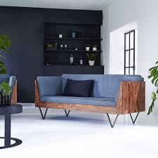Sleek Wooden Sofa Designs Metric Sheesham Three Seater Armchair In 2019 Wooden Sofa