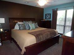 Blue/Brown Master Bedroom. Like The Accent Wall But In A Lighter Blue