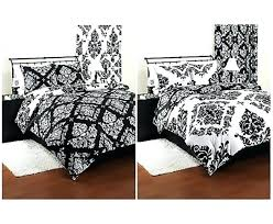 black and white modern crib bedding baby comforter reversible damask set sham twin home improvement wonderful s
