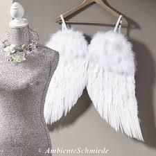 Xl Feder Flügel Engelsflügel Weiß 60x80 Kinder Deko Stuhl Weihnachten Shabby Chic