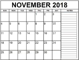 November Through November Calendars Blank Calendar November 2018 Printable Template Download