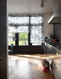 Patterned Blinds For Kitchen Flora And Fauna Designs In This Luxaflex Kitchen Roller Blind In