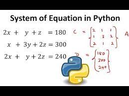 to solve system of equations in python
