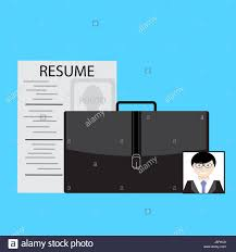 Job Search Resume And Photo Vector Job Interview Illustration Of
