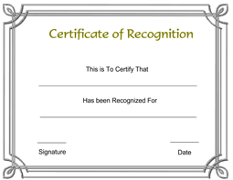certificate of recognition templates recognition certificate free printable templates