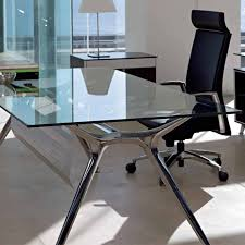 office desk glass. Office Desk Glass Chrome Black L Shaped Intended For Sizing 1500 X S