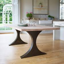wood rectangular dining table. Paris Rectangular Dining Table With Metal Legs And Wood Top Tom R