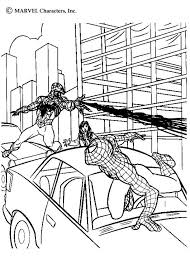 Small Picture Venom fighting a duel with spiderman coloring pages Hellokidscom