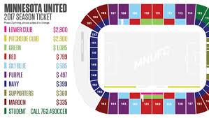 Tcf Stadium Seating Chart Mn United Mnufc Mls Season Ticket Pricing Minnesota United Fc