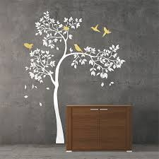 on vinyl wall art decals trees with tree and birds vinyl wall art decal