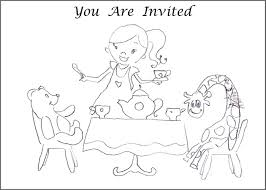 Small Picture Tea Party Coloring Pages To Download And Print For Free Coloring