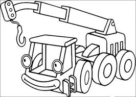 Small Picture Smiling Lofty Lifting Crane coloring page Free Printable