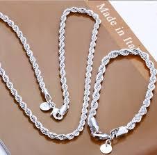 whole 925 sterling silver jewelry 925 necklace bracelet jewelry set s051