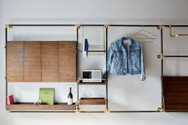 best wall unit storage elegant new lodging for the creative class made hotel in new york
