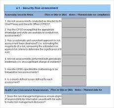 Security Risk Assessment Template Excel - Free Download