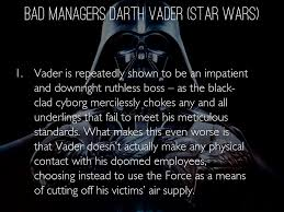 good and bad manager by nicoleolmedo bad managers darth vader star wars
