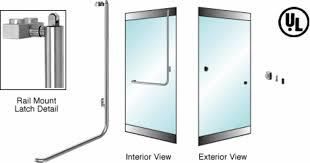 crl blumcraft 174 brushed stainless right hand reverse swing rail mount keyed access z exterior balanced door panic handle com