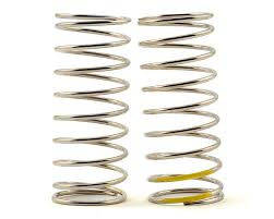 Tekno Rc Low Frequency 57mm Front Shock Spring Set Yellow 4 44lb In 1 6x9 75
