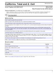 Mpn Chart For Coliforms Pdf Coliforms Total And E Coli Lauryl Tryptose With Mug