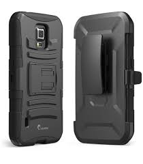 samsung galaxy s5 active case. prime dual layer holster case with kick stand for samsung galaxy s5 active