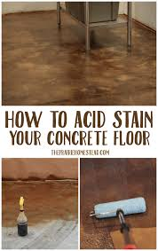Image Epoxy How To Diy Acid Stain An Concrete Floor From Start To Finish The Prairie Homestead How To Acid Stain Concrete Floors The Prairie Homestead