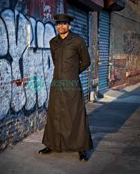 matrix long gothic trench coat