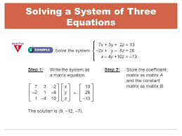 7 solving a system of three equations