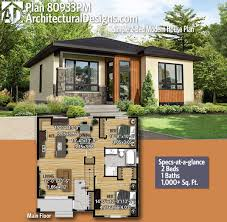 Architectural Design For House Plans Plan 80933pm Simple 2 Bed Modern House Plan Modern House