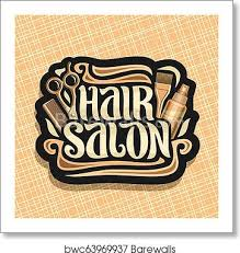 It's a liberal arts degree that utilizes a multidisciplinary approach to food while looking through the lens of the social sciences, the humanities, and the arts. Vector Logo For Hair Salon Art Print Barewalls Posters Prints Bwc63969937