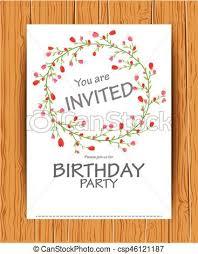 B Day Invitation Cards Birthday Invitation Card With Beautiful Flower