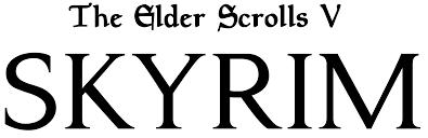 File:The Elder Scrolls V - Skyrim logo.png - Wikimedia Commons