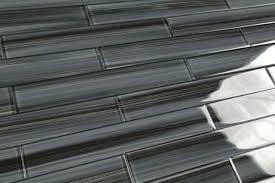 Subway Glass Tiles For Kitchen Dark Gray Black 2x12 Subway Glass Tile For Kitchen Backsplash Or