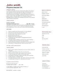 Professional Curriculum Vitae Template Fascinating Sample Curriculum Vitae Template