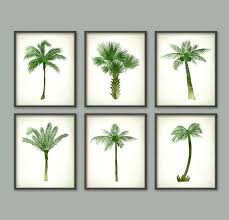 palm tree botanical wall art print set of 6 modern home palm tree wall art palm  on wood palm tree wall art with wood palm tree wall art sloanesboutique
