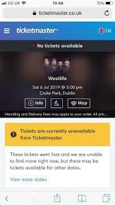2x Seated Westlife Croke Park Tickets In Lisburn County Antrim Gumtree