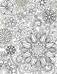 Floral Coloring Pages Tropical Flowers Stained Glass Coloring Book