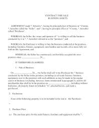Asset Agreement Transfer Of Ownership Contract Template