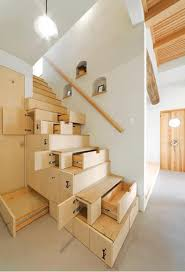 Awesome Storage Solution - Stairs As Storage. Cupboards and drawers built  in to the stairs. Kotaro Anzai custom-built this kaidan dansu, or staircase  ...