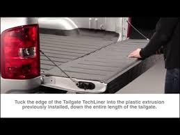 Installation: WeatherTech Tailgate TechLiner on a Chevy GMC - YouTube