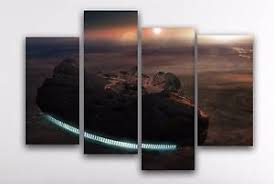 image is loading star wars canvas wall art print large 4  on star wars canvas panel wall art with star wars canvas wall art print large 4 panel split canvas picture