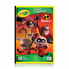 Giant Colouring Pages Incredibles 2 Crayolaca
