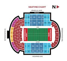 Dallas Football Stadium Seating Chart Uncc Football Stadium