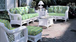 outdoor white wicker furniture nice. white wicker furniture with table and ottoman green cushions for backyard decor outdoor nice n
