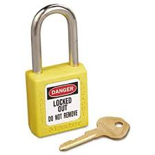 Padlock Size Chart No 410 Lightweight Xenoy Safety Lockout Padlock 6 Pin Yellow 36 Crtn