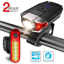 Usb Bicycle Light Set Itshiny Usb Bike Light Set Rechargeable Led Headlight