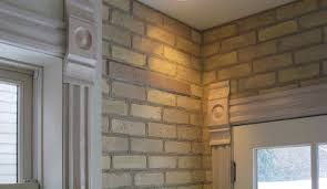 our new old yellow brick interior wall