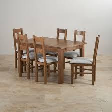 Oak Chairs For Kitchen Table Original Rustic Range Solid Oak Oak Furniture Land