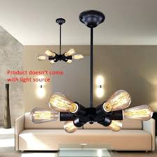 edison bulb pendant lighting vintage black pendant lights bulb 6 heads ceiling lamp bulb living room edison bulb pendant lighting