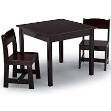 delta children mysize kids wood table and chair set 2 chairs included dark
