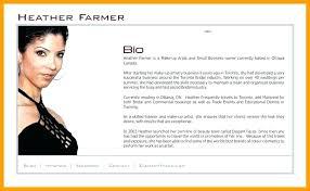 Short Music Biography Example Makeup Artist Examples Bio Sample M